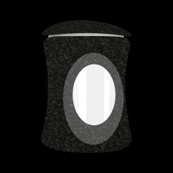 Lantaarn Black Graniet (ronding)